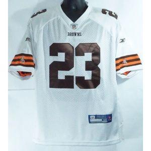 Cleveland Browns Joe Haden Reebok Jersey M 48